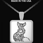 Fox Theme Necklace by Kerri Bouffler